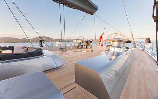 Sailing Yacht A Sulana Deck Space