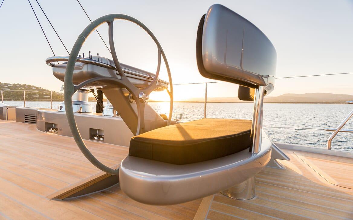 Sailing Yacht A Sulana Wheel