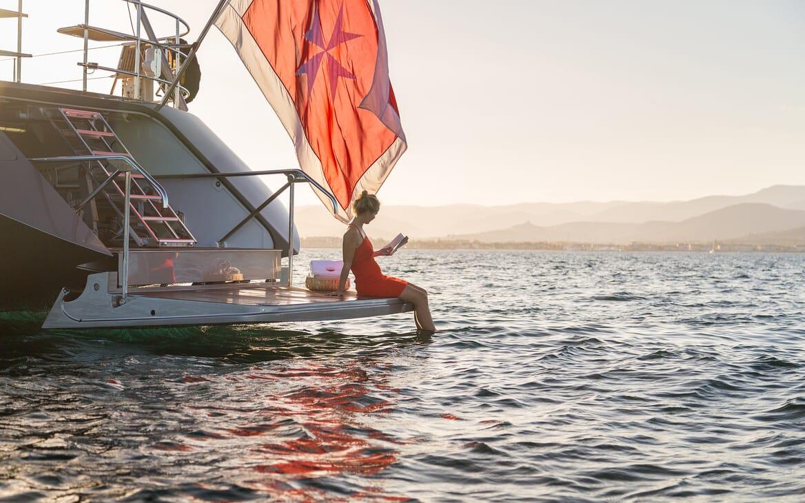Sailing Yacht A Sulana Aft Deck