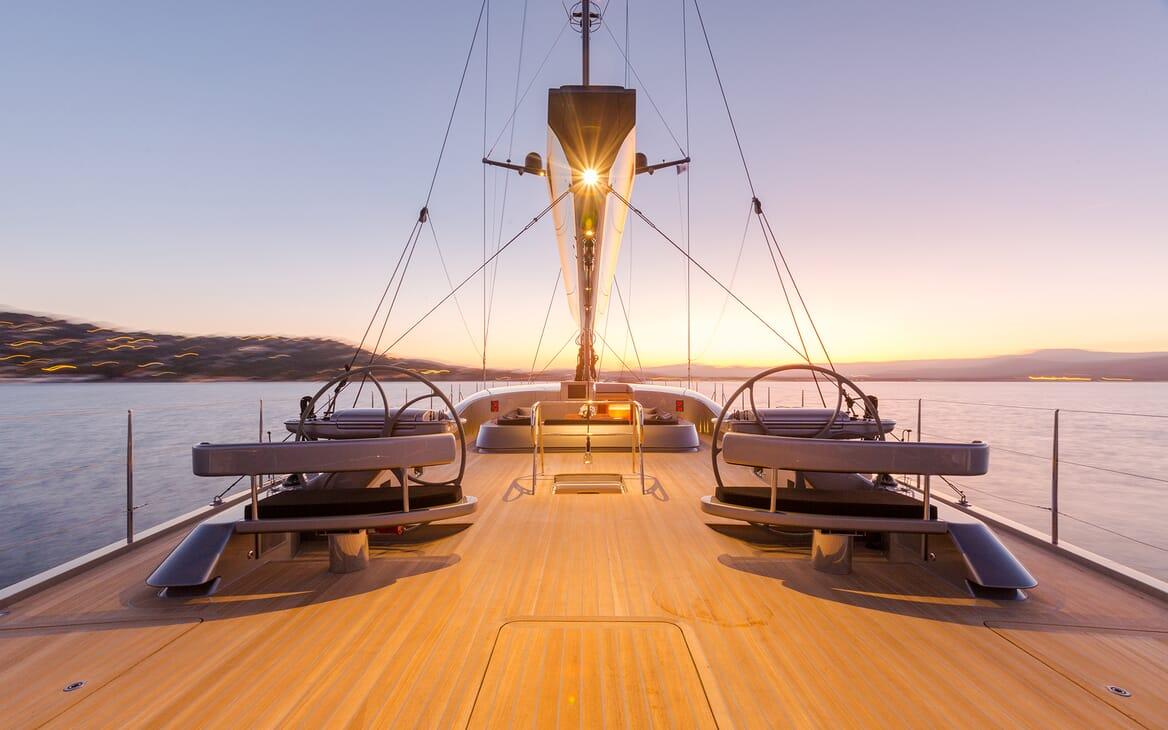 Sailing Yacht A Sulana Evening Deck
