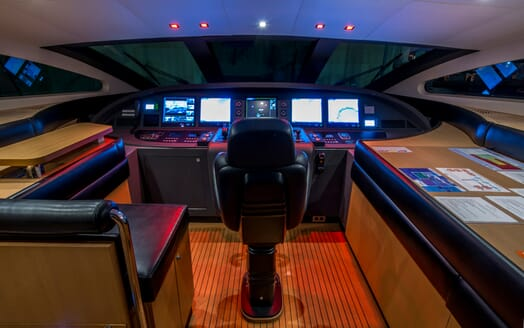 Motor Yacht Hooligan II Wheelhouse