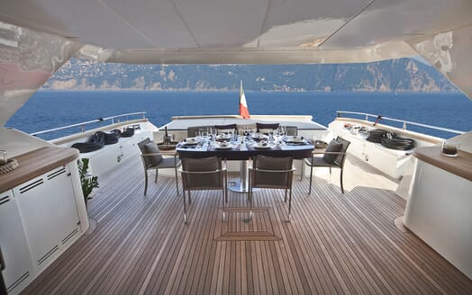 Motor Yacht Toby main deck