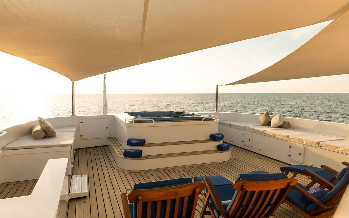 Motor Yacht NORTHERN SUN Sun Deck Jacuzzi