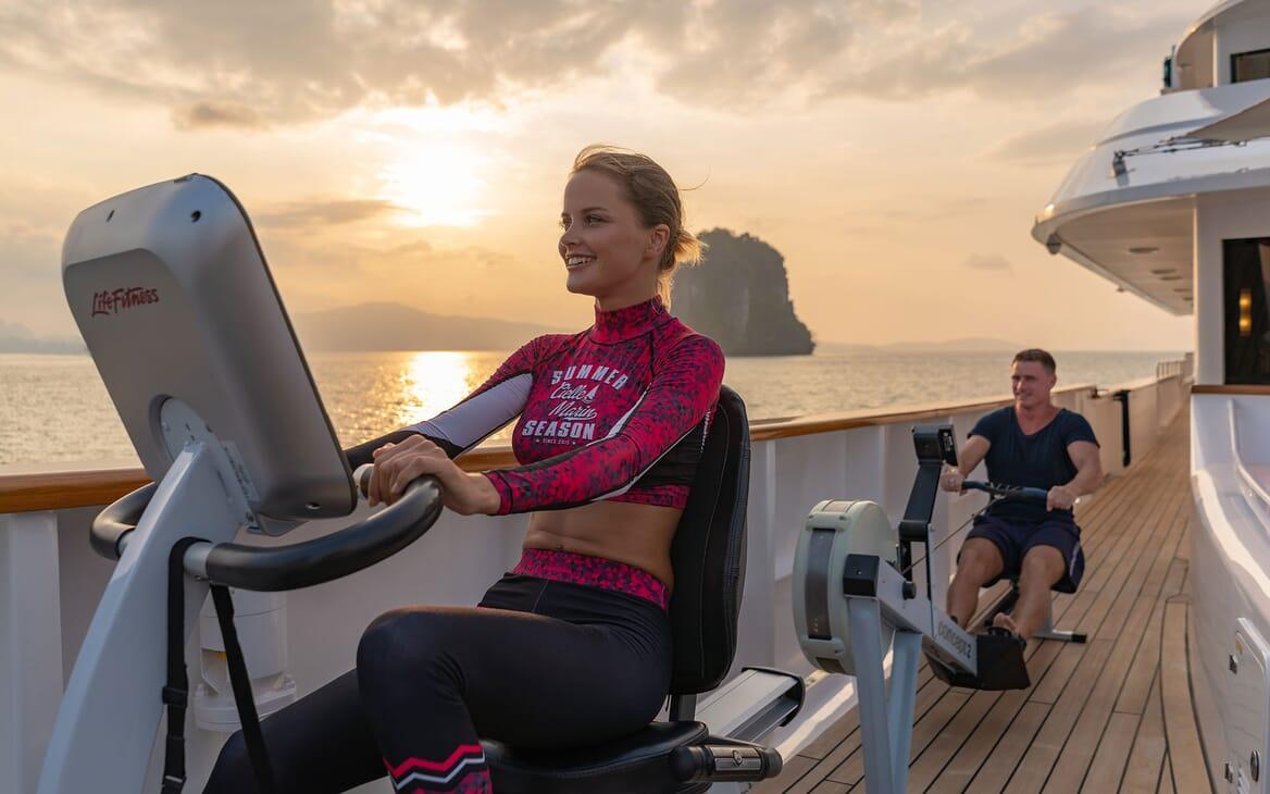 Motor Yacht NORTHERN SUN Deck Cardio Machines