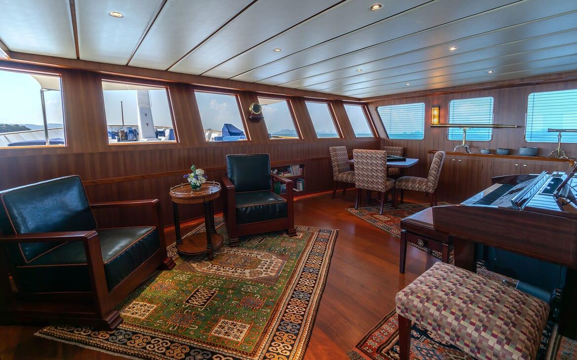 Motor Yacht NORTHERN SUN Main Deck Forward Games Room