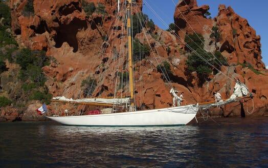 Sailing Yacht Moonbeam of Fife At Anchor