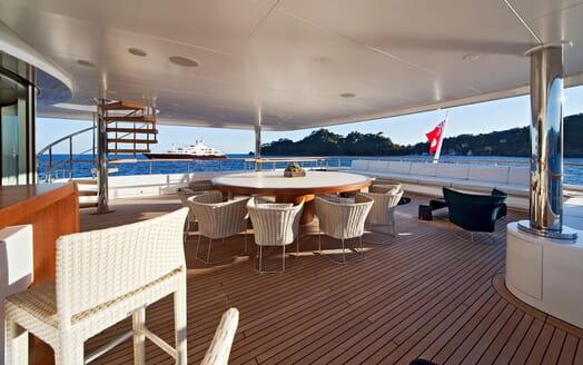 Motor Yacht BARAKA Main Aft Deck
