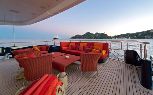 Motor Yacht BARAKA Aft Deck Seating