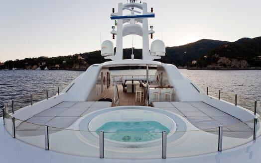 Motor Yacht BARAKA Sun Deck Jacuzzi