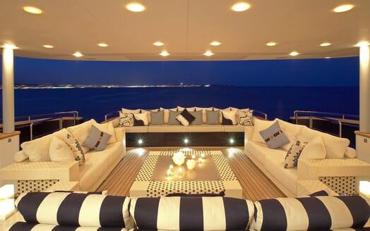 Motor Yacht Burkut outdoor seating area