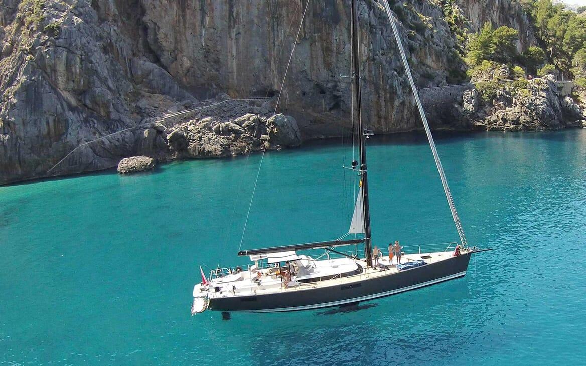 Sailing Yacht PH3 under anchor