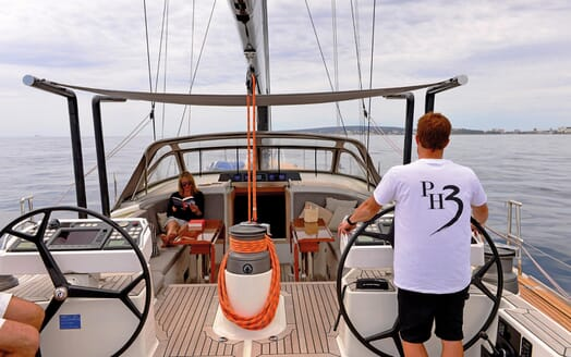 Sailing Yacht PH3 helm