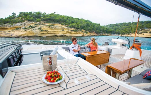Sailing Yacht PH3 outdoor seating area