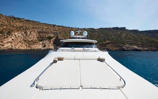 Motor Yacht Deva foredeck