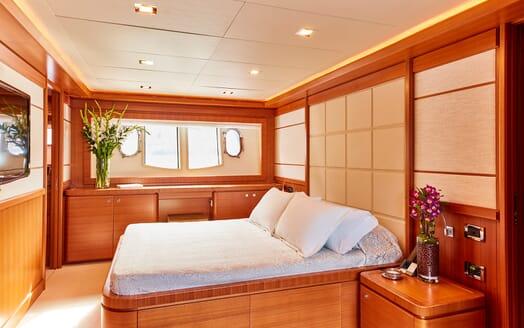 Motor Yacht Deva master stateroom