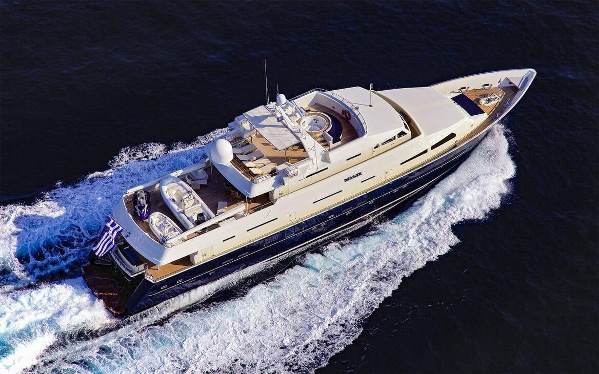 Motor Yacht MAGIX Aerial Underway