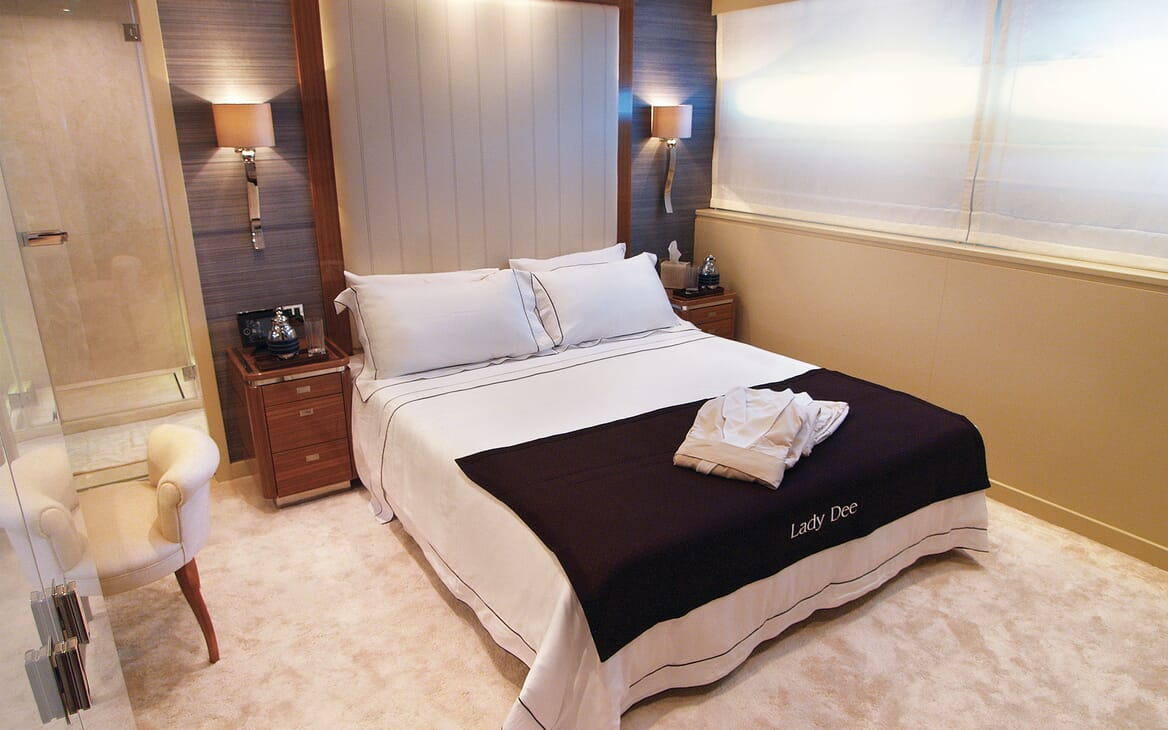 Motor Yacht Lady Dee master stateroom