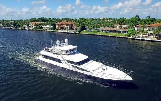 Motor Yacht First Home running shot