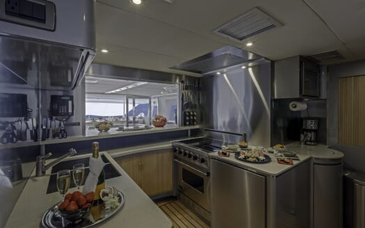 Motor Yacht First Home galley