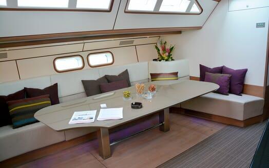 Sailing Yacht Susanne af Stockholm dining area