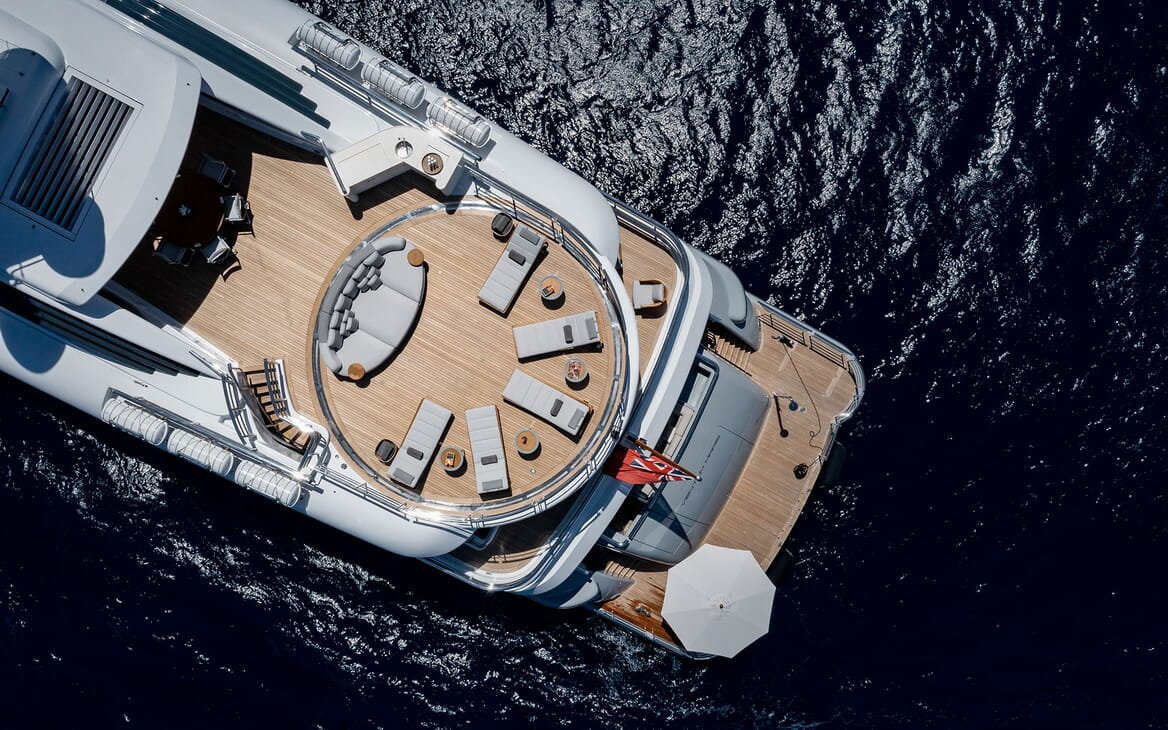 Motor Yacht VENTUM MARIS Areial Deck View