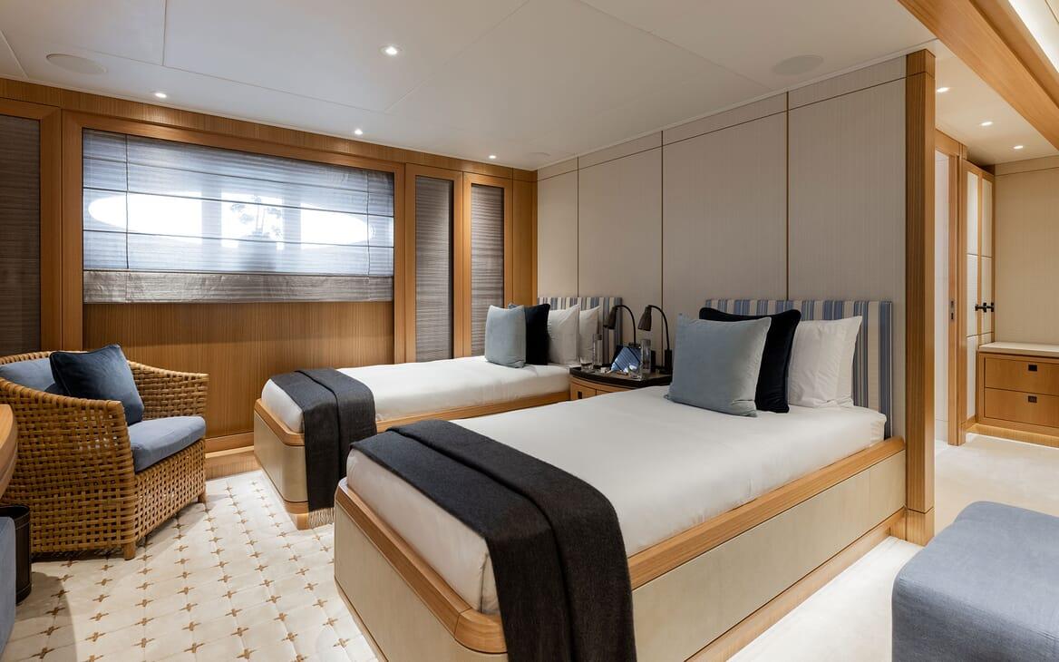 Motor Yacht VENTUM MARIS Twin Guest Stateroom