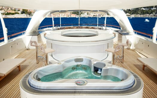 Motor Yacht NASSIMA Sun Deck  Jacuzzi and Bar