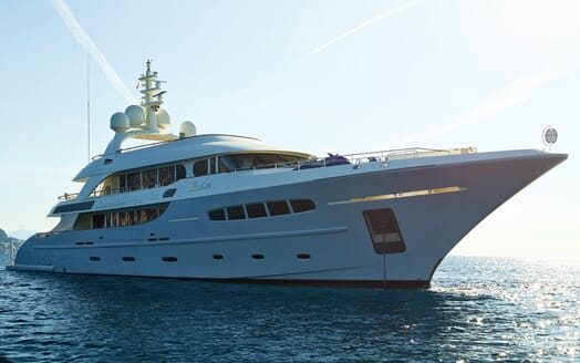Motor Yacht NASSIMA Profile Anchored