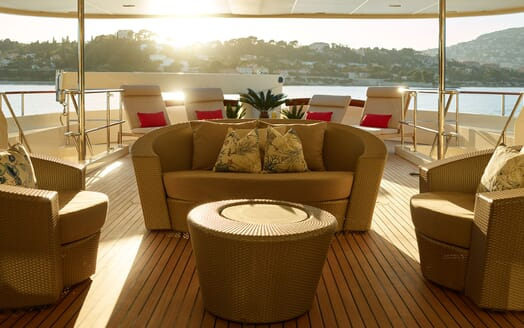 Motor Yacht NASSIMA Main Aft Deck Seating