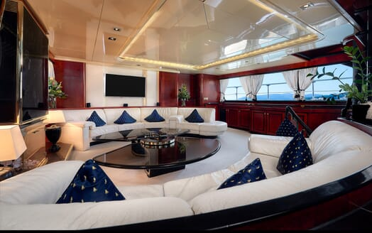Sailing Yacht Lady Sunshine seating area