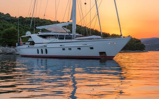 Sailing Yacht Lady Sunshine anchored