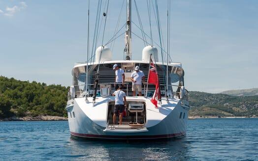 Sailing Yacht Lady Sunshine aft