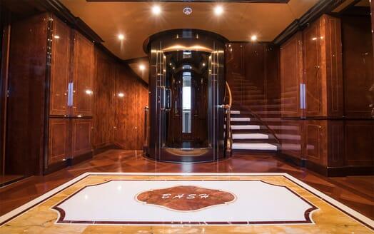 Motor Yacht Bash stairwell