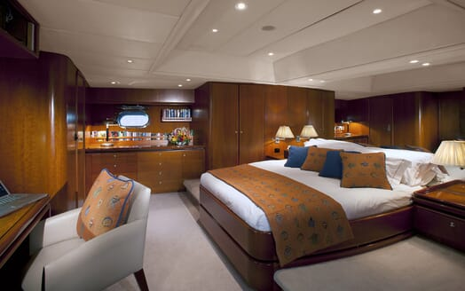 Sailing Yacht Seaquell master cabin