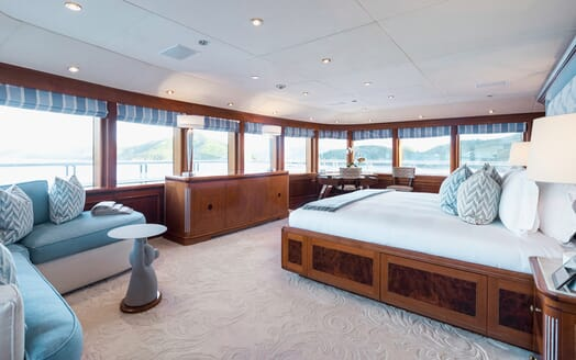 Motor Yacht Titania master cabin