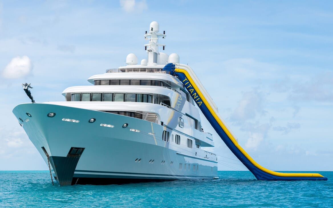 Motor Yacht Titania anchored