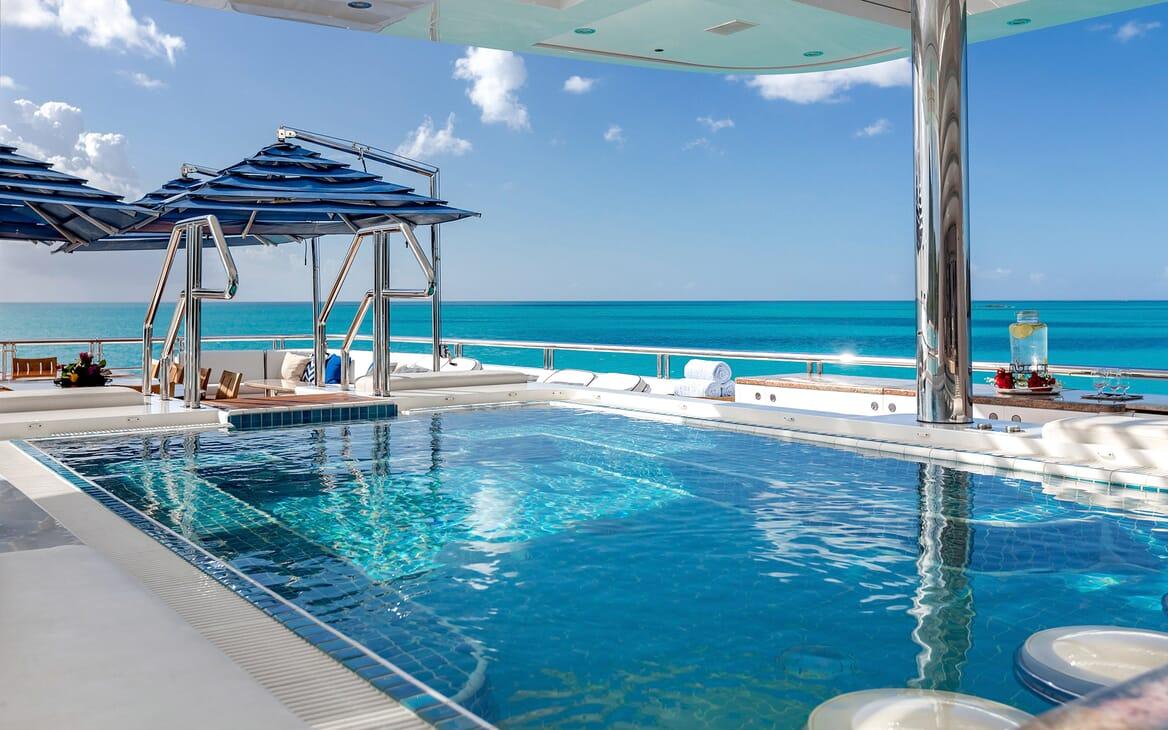 Motor Yacht Titania swimming pool