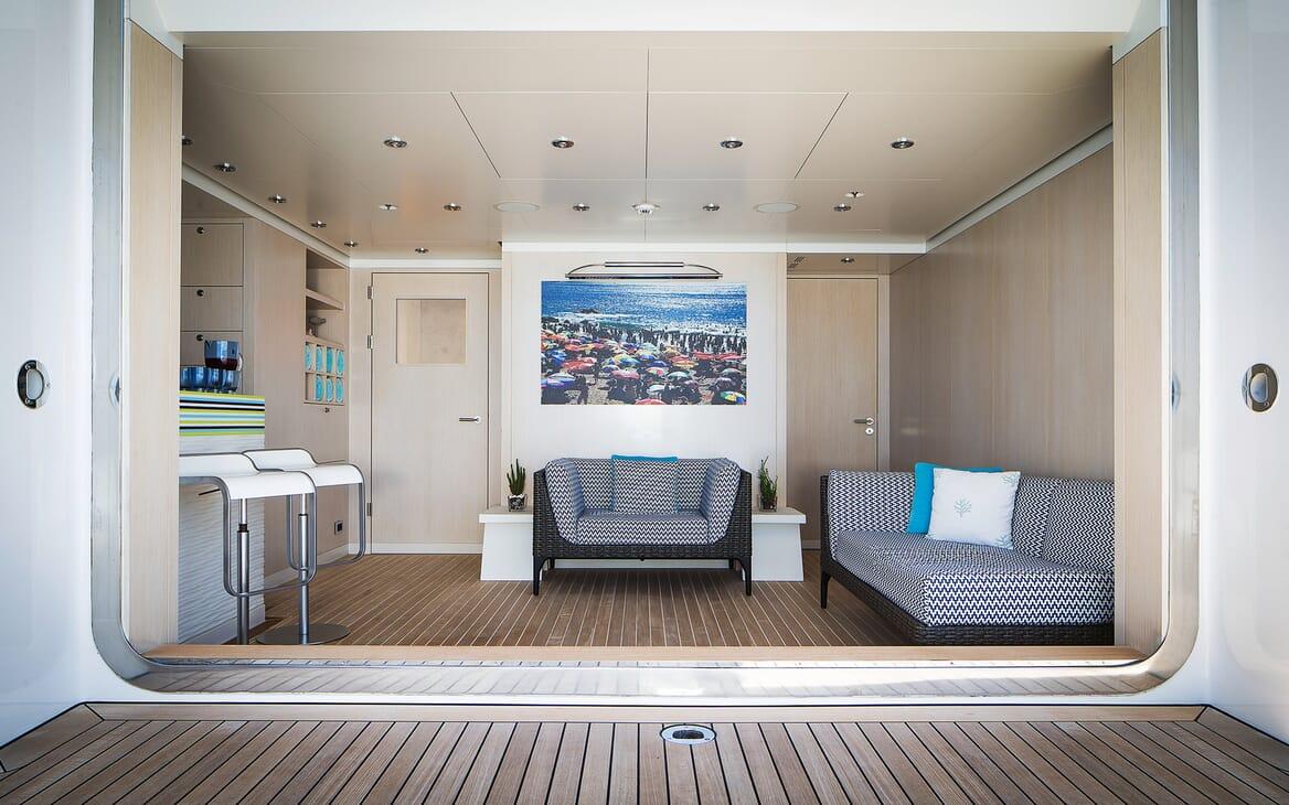 Motor Yacht Titania seating area