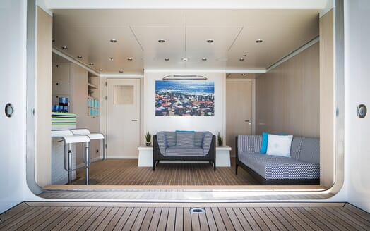 Motor Yacht Titania seating area