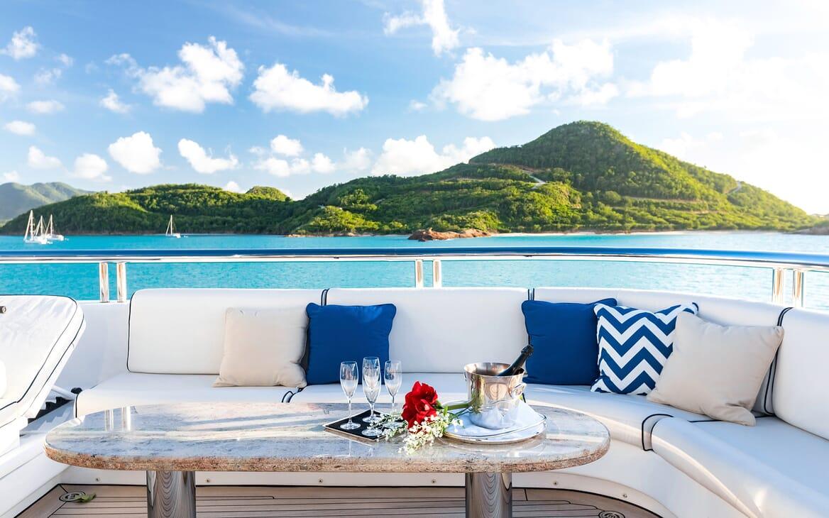 Motor Yacht Titania outdoor seating area