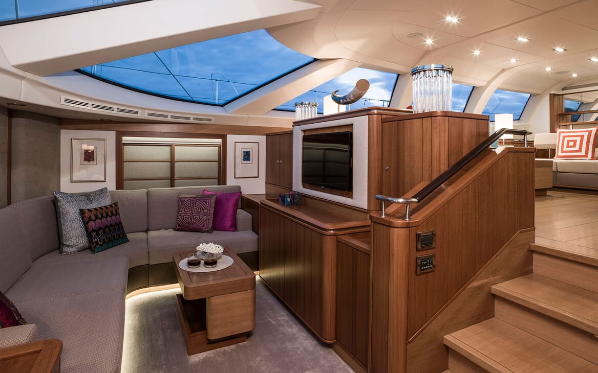Sailing Yacht TWILIGHT Main Saloon Alcove