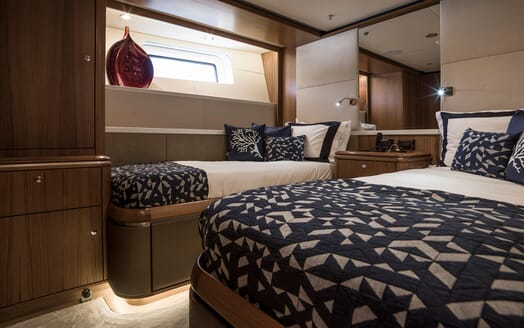 Sailing Yacht TWILIGHT Twin Guest Stateroom