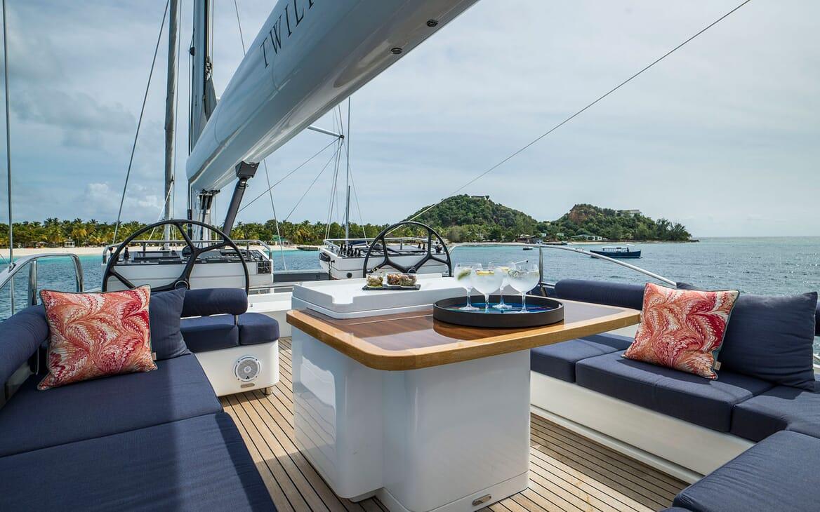 Sailing Yacht TWILIGHT Deck Seating
