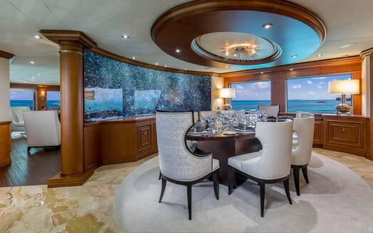 Motor Yacht M3 dining area