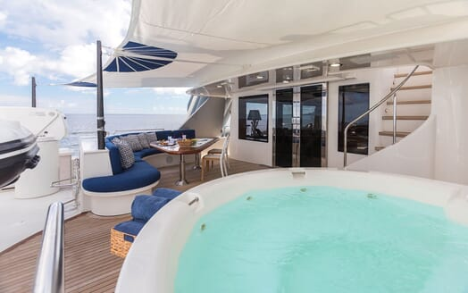 Motor Yacht ALL IN Upper Aft Deck Jacuzzi