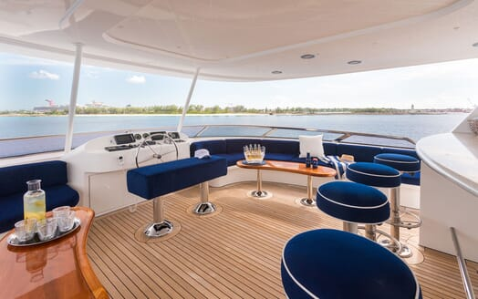 Motor Yacht ALL IN Sun Deck Wheel