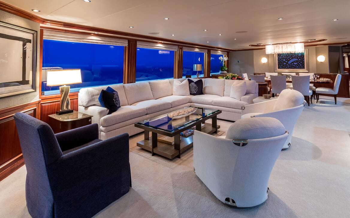 Motor Yacht ALL IN Main Saloon and Dining Table