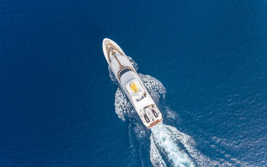 Motor Yacht ALL IN Birds Eye View