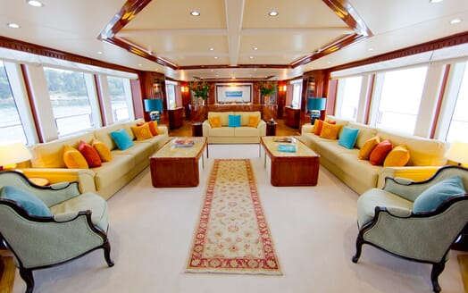 Motor Yacht MARINA WONDER Main Saloon Seating