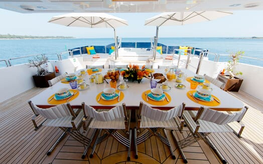 Motor Yacht MARINA WONDER Al Fresco Dining